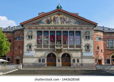Aarhus, Denmark - 19 June 2019: old opera building at Aarhus in Denmark