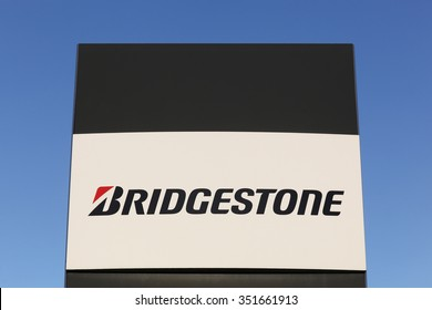 Aarhus, Denmark - December 13, 2015: Bridgestone is a multinational auto and truck parts manufacturer founded in 1931 and also one of the largest manufacturer of tires in the world