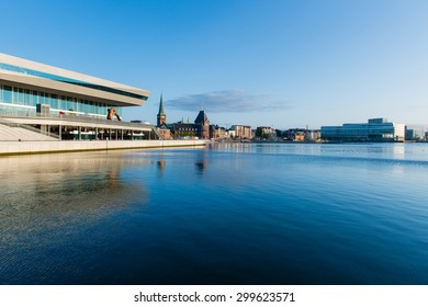 AARHUS, DENMARK - JULY 15, 2015: Beginning in 2007, Aarhus Dockland is currently a large construction site. Aarhus will be also European capital of culture in 2017. July 15, 205 in Aarhus, Denmark