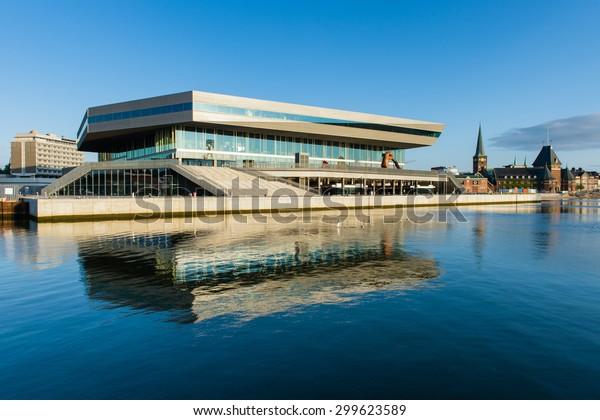 AARHUS, DENMARK - JULY 15, 2015: Beginning in 2007, Aarhus Dockland is currently a large construction site. Aarhus will be also European capital of culture in 2017. July 15, 205 in Aarhus, Denmark