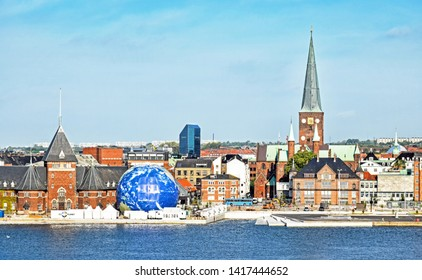 Aarhus, Denmark – July 20, 2017: Cityscape of Aarhus in Denmark