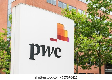Aarhus, Denmark - June 11, 2017: PWC logo. PWC is a professional service company offering tax, book keeping, counseling and other financial services