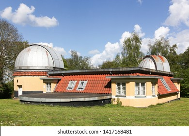 Aarhus, Denmark - May 12, 2019: Astronomical Ole Romer observatory of Aarhus in Denmark