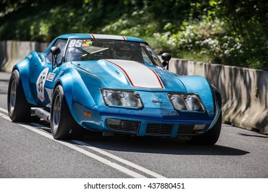 AARHUS, DENMARK - MAY 27 2016: Claes Paulsson #95 - Chevrolet Corvette ZL1 454 at the Classic Race Aarhus 2016
