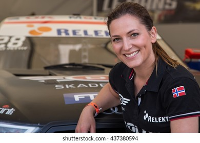 AARHUS, DENMARK - MAY 28 2016: Molly Pettit #28 - Audi - Danish Supertourisme at the Classic Race Aarhus 2016