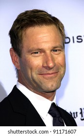 "Aaron Eckhart at""The Rum Diary"" Los Angeles Premiere, LACMA, Los Angeles, CA 10-13-1"