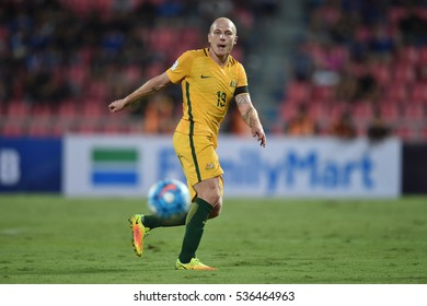 Aaron Mooy of Australia in action during the 2018 World Cup Qualifiers match between Thailand and Australia at Rajamangala Stadium on September 15, 2016 in Bangkok, Thailand