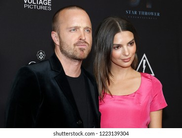 Aaron Paul and Emily Ratajkowski at the Los Angeles special screening of 'Welcome Home' held at the London Hotel In West Hollywood, USA on November 4, 2018.