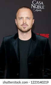 Aaron Paul at the Los Angeles special screening of 'Welcome Home' held at the London Hotel In West Hollywood, USA on November 4, 2018.