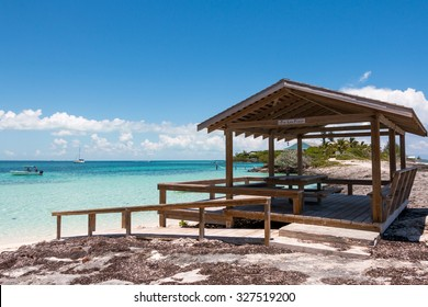 ABACO, BAHAMAS - MAY 22, 2015 - Refreshment front of the beach on May 22, 2015 in Man O War Cay Abaco.