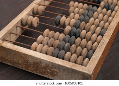 abacus - an antique financial arithmetic device