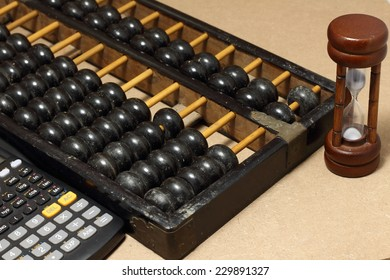 abacus with calculator