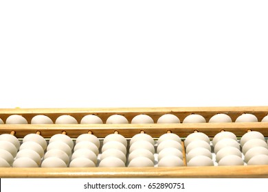 Abacus isolated on white background with copy space.