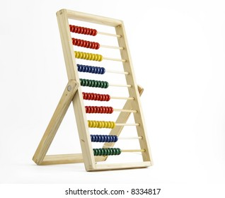 Abacus isolated on white background