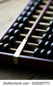 Abacus on the table, close up