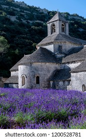 Abadia de Senanque and its lavender field. France