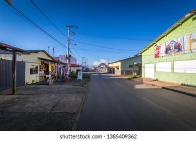 Abadiania, Goias, Brazil - March 30 2019: Casa de Dom Inácio de Loyola, Abadiania, Goias, Brazil meditation outdoor place
