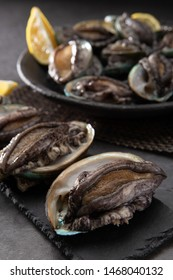 Abalone over dark stone plate