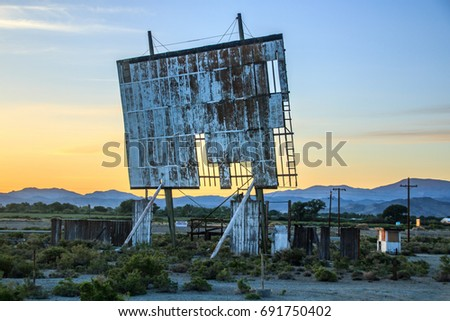 Abandon Outdoor Drive Movie Theater Early Stock Photo Edit Now