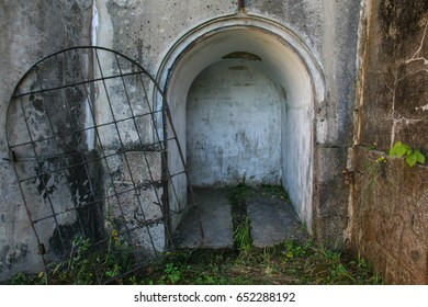 abandoned ancient doorway of fortress