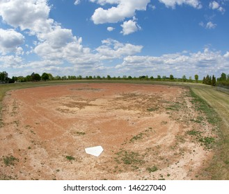 abandoned baseball field