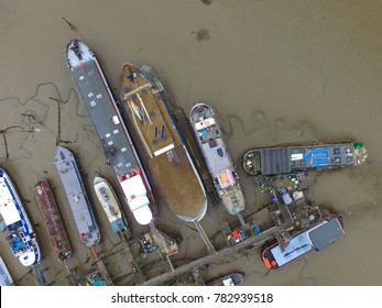 Abandoned Boats From Above