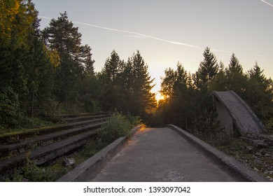 Abandoned bobsleigh ttrack in Bosnia, Sarajevo