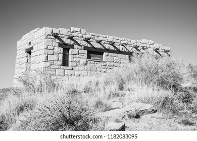 Abandoned building in the desert.