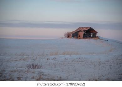 Abandoned building hi way 40 Saskatchewan, Canada