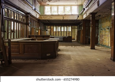 Abandoned building from inside, located in England, Wolverhampton