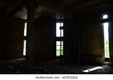 abandoned building interior
