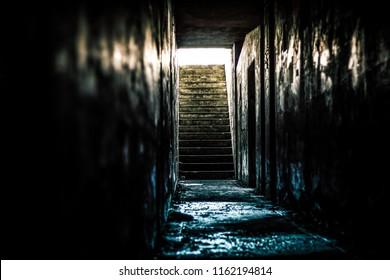 Abandoned bunker, Fort Worden, WA