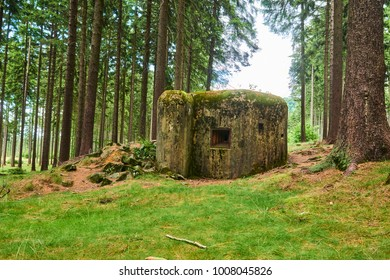 Abandoned bunker (Ropik) hidden deep in the forest. Near Czech Republic - Germany borders