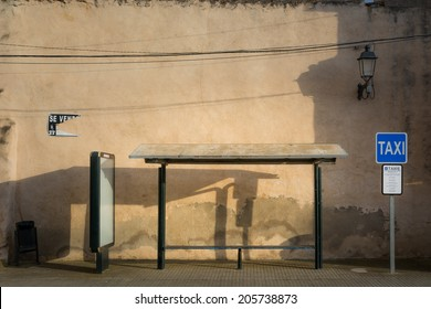 Abandoned bus stop in Majorca, Spain