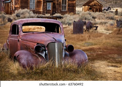 Abandoned Car - Bodie Ghost Town, California