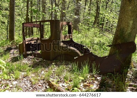 Abandoned Car Woods Stock Photo Edit Now 644276617 Shutterstock