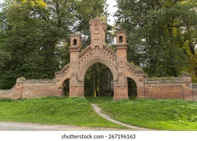 Abandoned catholic cementery in Olyka, Volyn region.