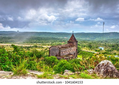 Abandoned catholic church at Bokor national park, Kampot, Cambodia