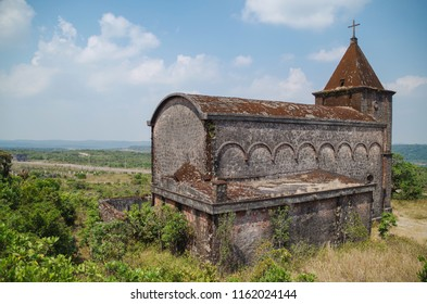 Abandoned catholic church on mountain Bokor. Built by the French colonialists. Cambodia, Kampot Province, Preah Monivong Bokor National Park