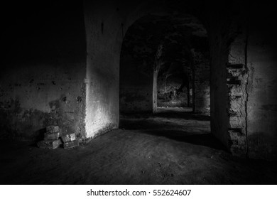 abandoned cellar in Daugavpils stronghold