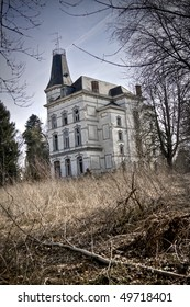 An abandoned Chateau, beauty gone lost. Nowadays it's a spooky place