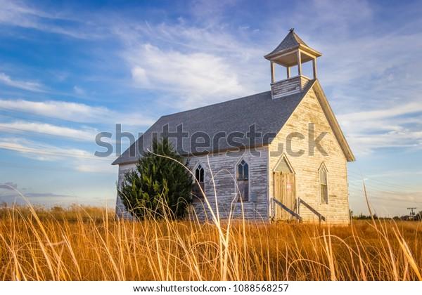 Abandoned Church on the Kansas Prairie