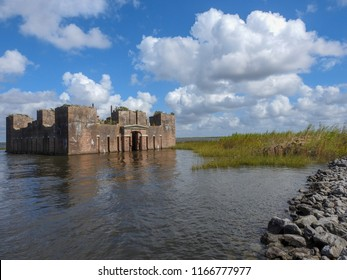Abandoned Civil War Fortress - Fort Proctor near New Orleans, Louisiana