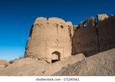 Abandoned clay house where the Persian people were living for a long time