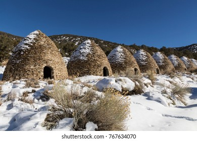 Abandoned coke ovens in Death Valley National Park in California left over from iron smelting industry.