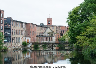 Abandoned cotton mill on the Pawtuxet River, Warwick, Rhode Island