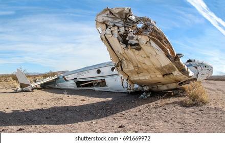 Abandoned crashed plane in the desert (Nevada)