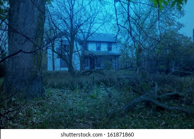 Abandoned creepy old country house