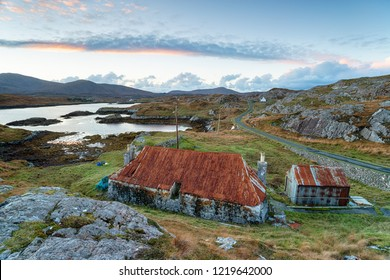An abandoned croft at Quidnish on the Isle of Harris in the Outer Hebrides