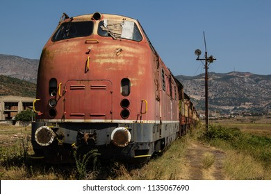 Abandoned czech railway train in Albania left for decay and corrosion